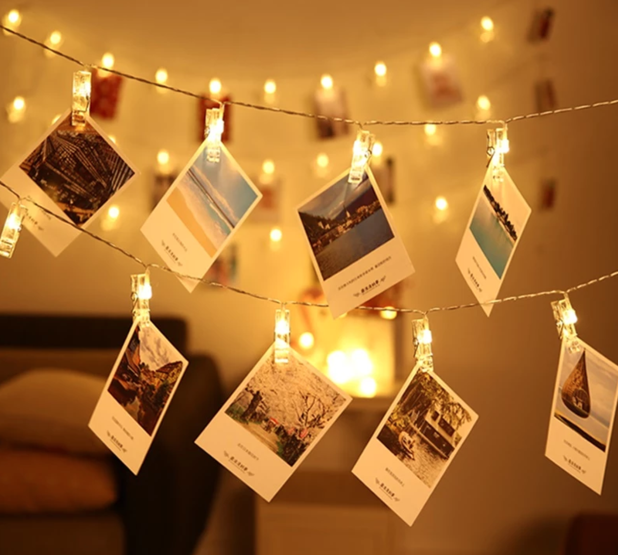 LED Photo Light String - Wedding Party, Holiday Home Decoration Lights