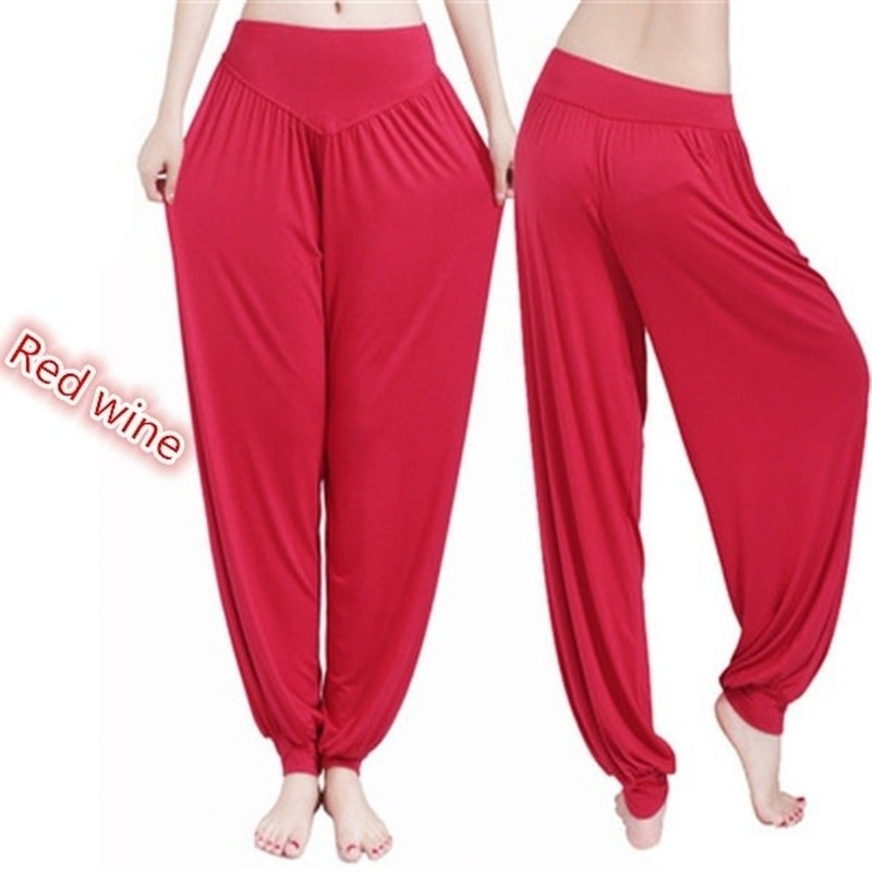 Loose-fitting Yoga Pants Female Bloomers Solid Color Seamless High Waist Sports Fitness Pants S-3XL