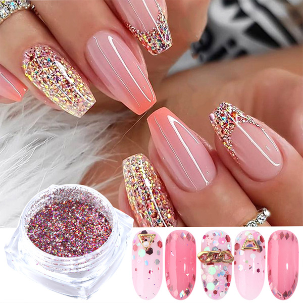 Martha ™glitter sequins for nail art set