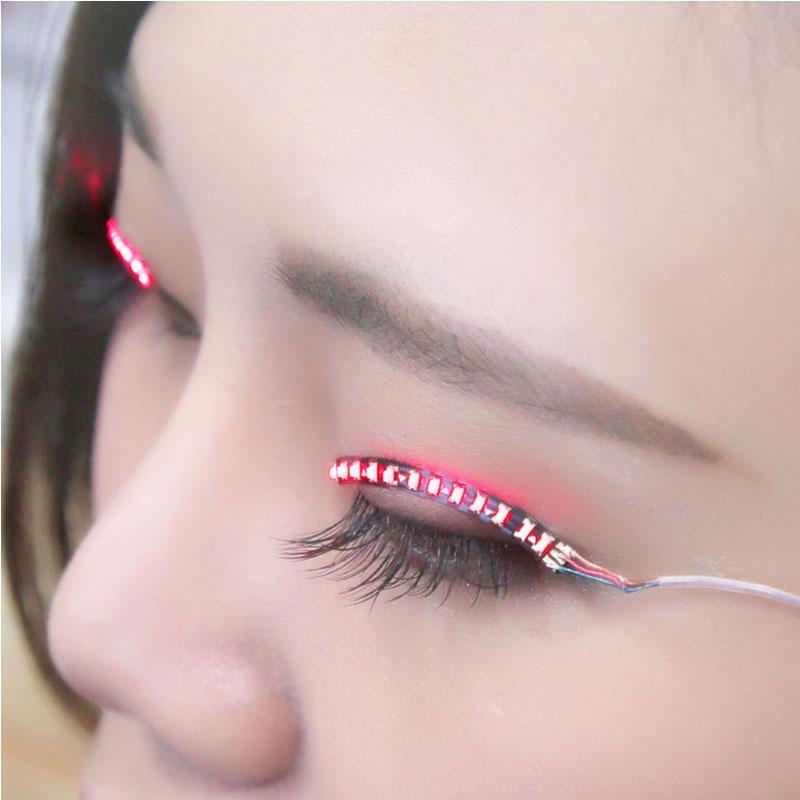 Waterproof Luminous LED Eyelashes with 7 Flashing Modes