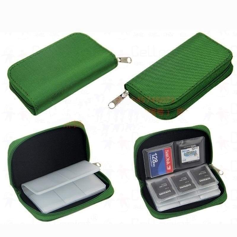 Mini Bag Memory Card Storage Carrying Pouch Case Holder Wallet For CF/SD/SDHC/MS/DS