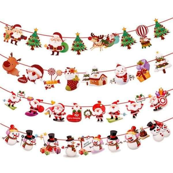 3M Christmas Banner Christmas Decoration for Home 2019 Christmas Ornaments Santa Snowman Noel Flags New Year