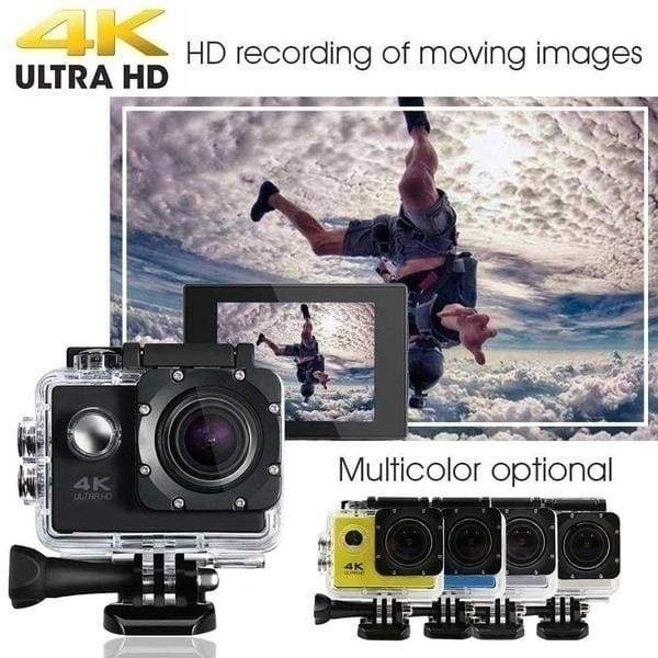 New Hot Sale Outdoor Sports Action Camera 4K 1080P WIFI 30M Waterproof 170 Degree Wide-Angle Lens Extreme Sports Photography DV Sports Cam Camcorder for Surfing Parachuting Diving Skiing Cycling Hiking