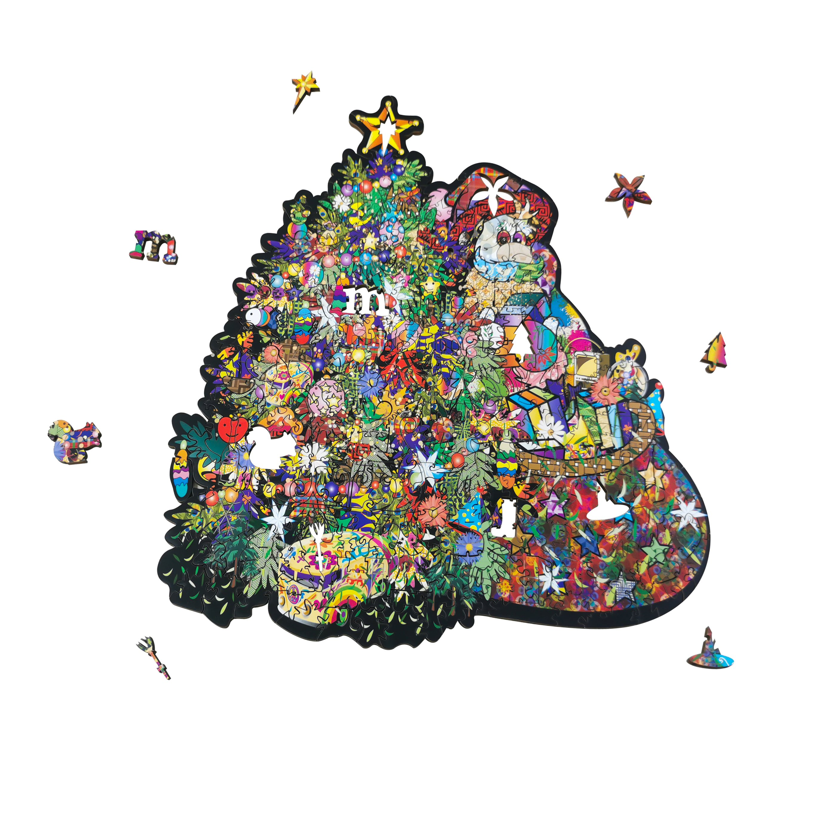 Wooden Jigsaw Puzzle Merry Christmas
