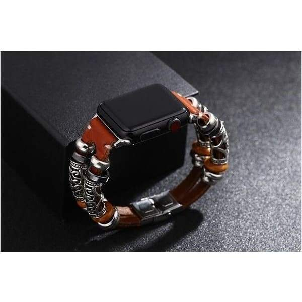 Bracelet IWatch Band for Apple Watch Series 1/2/3/4 38mm/40mm/42mm/44mm Bracelet Strap Alloy Leather Wristband