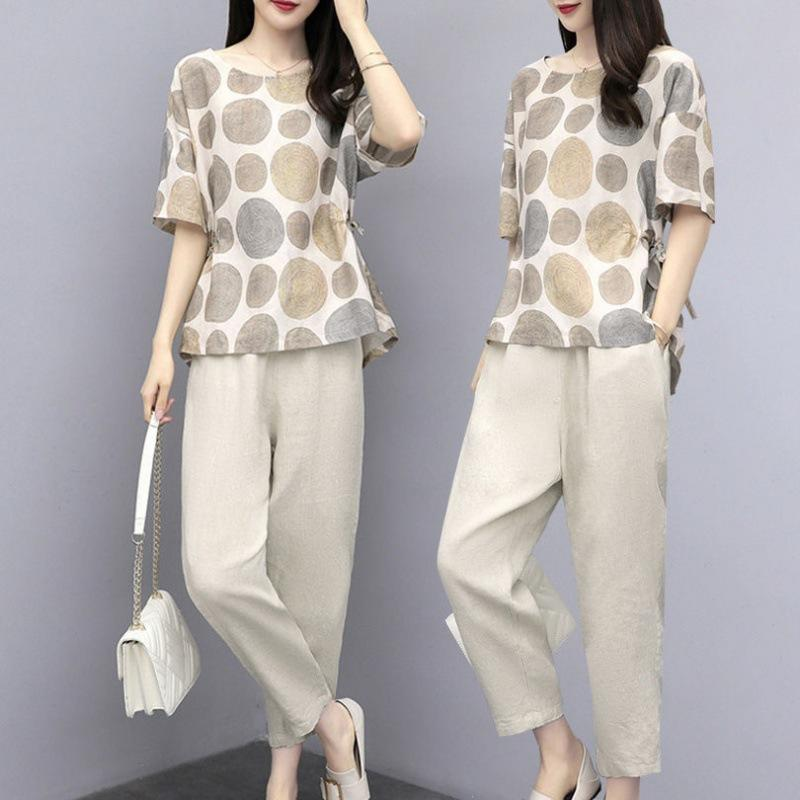 Women's cotton and linen suits 2020 summer new