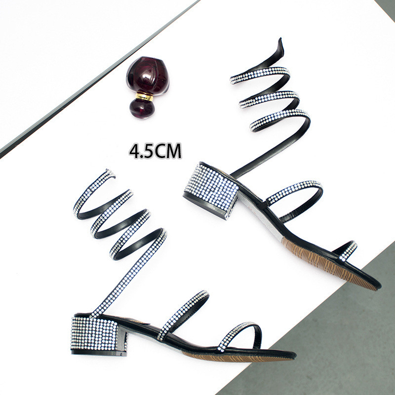 New Arrival!Snake-Coil Crystal Sandals