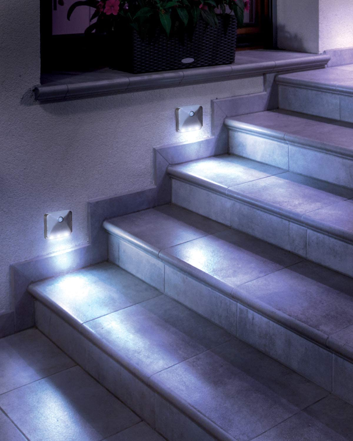Wireless Motion-Sensing Path/Step LED Light, Stick Anywhere (2 Pack)