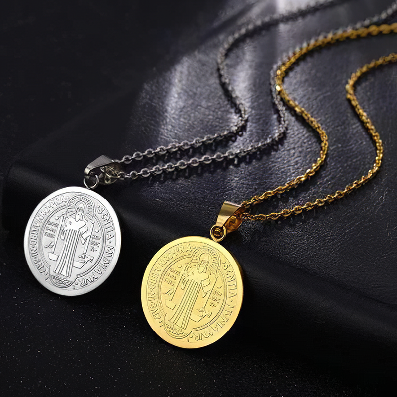 18k Gold Elegant St. Benedict Necklace [60 %OFF + BUY 1 GET 1 FREE Only Today]