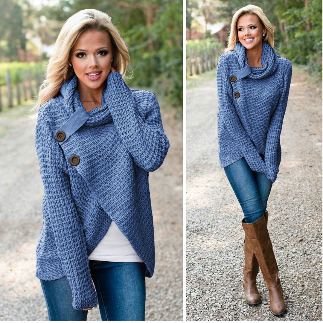 Long sleeve all-match knitted cardigan sweater