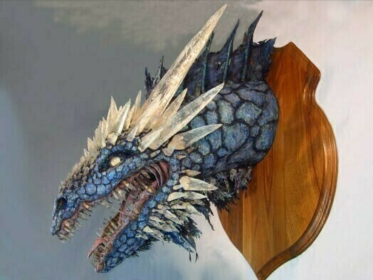 The domineering evil dragon wall sculpture lamp decoration