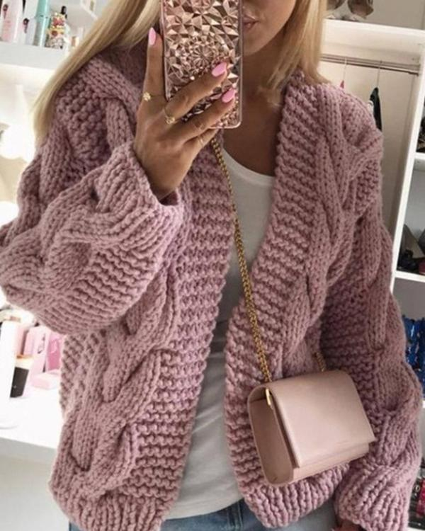 New Sweater Women's Simple Knitted Coat Women's Clothing
