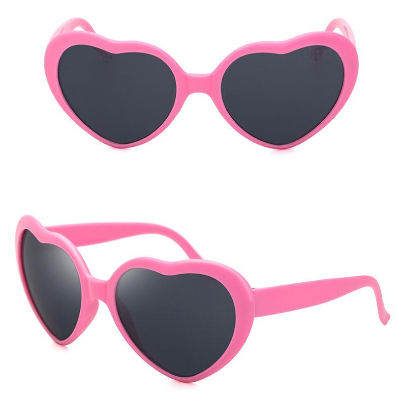 Large Oversized Womens Heart Shaped Sunglasses