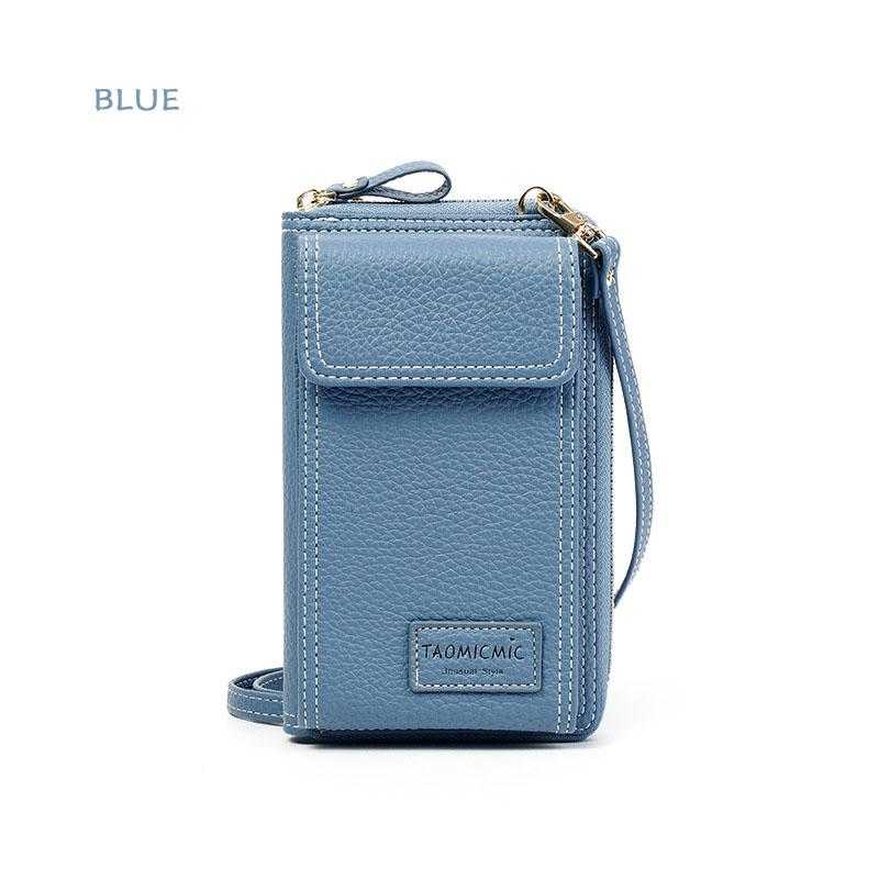 Women Leather Clutch Wallet  Phone Bag Leisure Crossbody Bag