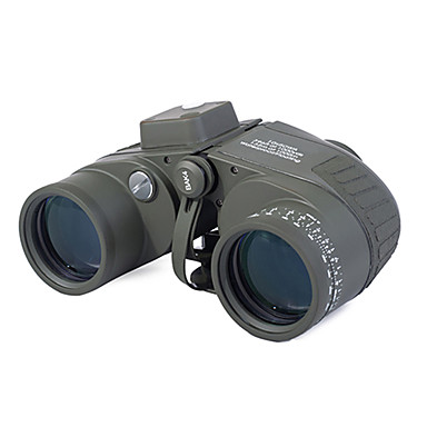 Boshile 10 X 50 mm Binoculars Range Finder Lenses Waterproof Compass Night Vision Fully Multi-coated BAK4 Camping / Hiking Hunting Fishing Aluminium Alloy / IPX-6