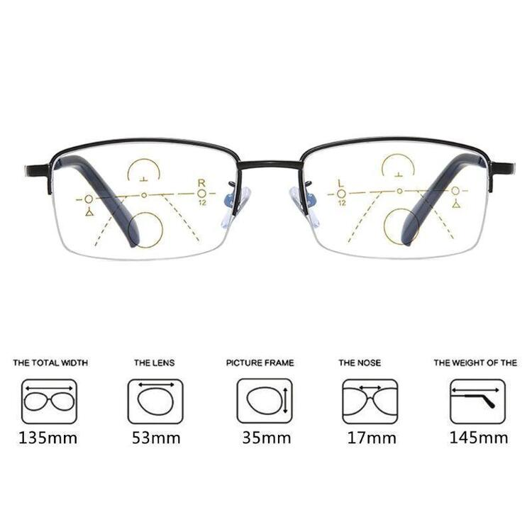 【Only $9.99 Buy 1 get 1 free】FoldFlat ™Titanium progressive far and near dual-use reading glasses