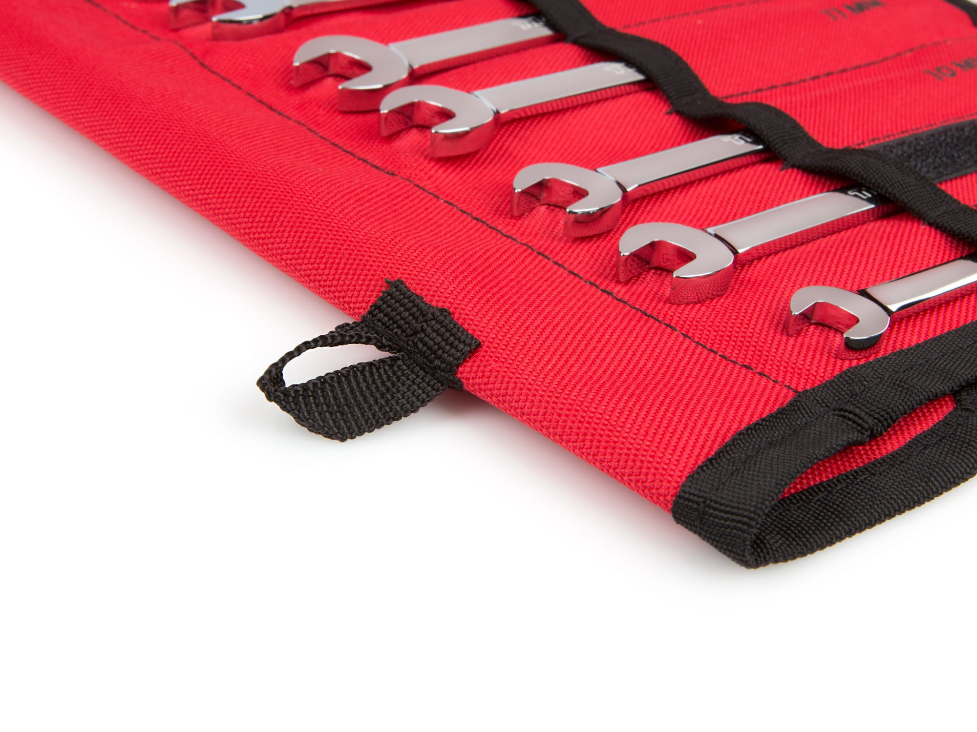 RED Inch Reversible Ratcheting Combination Wrench Set, 12-Piece (8-19 mm) - Pouch
