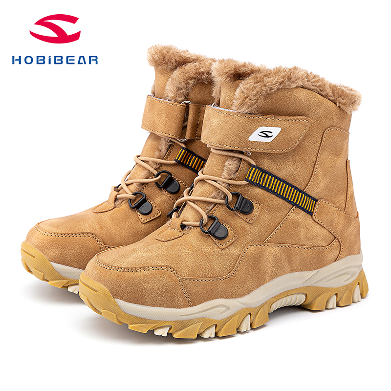 Kids Snow Boots Boys Girls Winter Boots Outdoor Warm Shoes Waterproof Hiking Boots AW3777