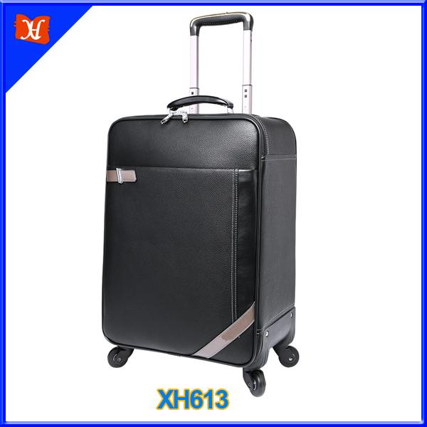 PU Leather Softside Spinner Carry-On Luggage For Weekend roller bag-1.9