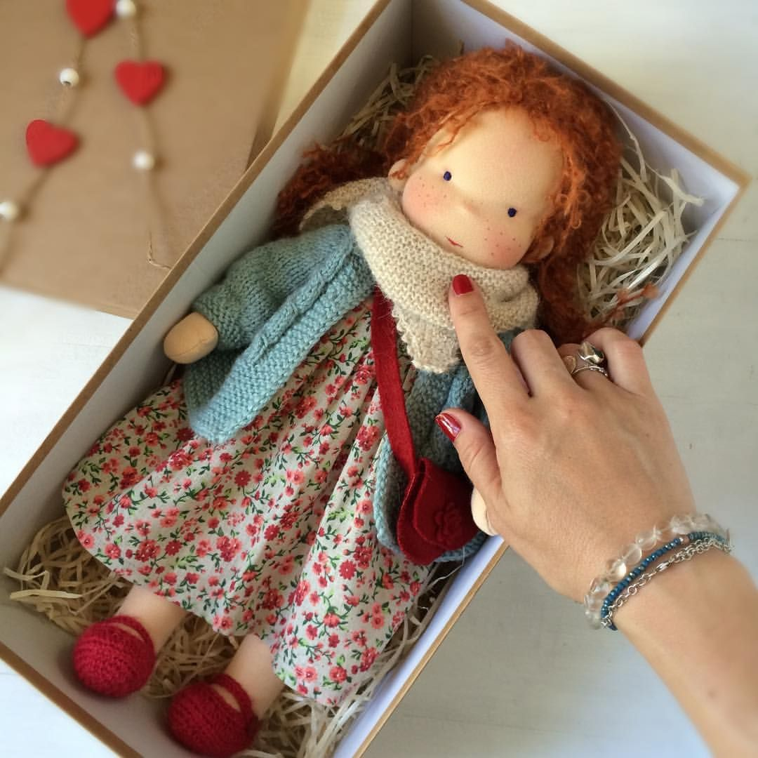 Liberty Dress For Waldorf Doll - Doll Clothing #10