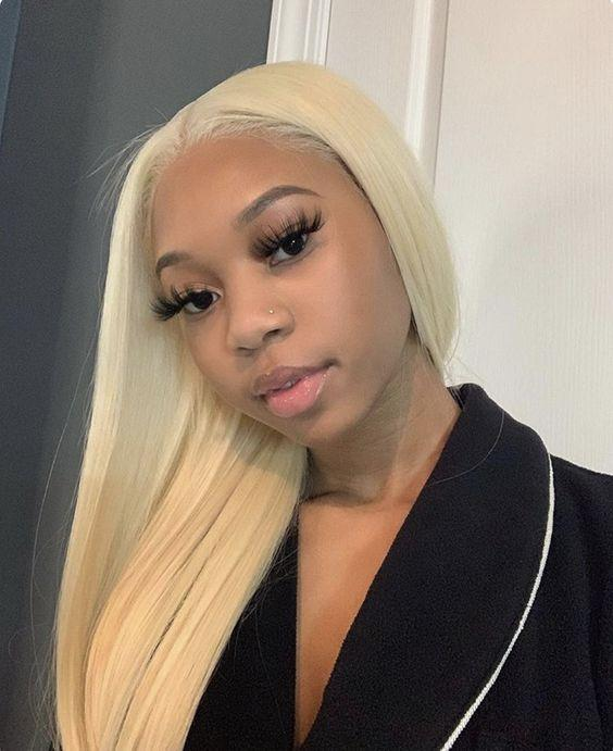 Gray Wigs Lace Front Hair White Platinum Blonde Hair