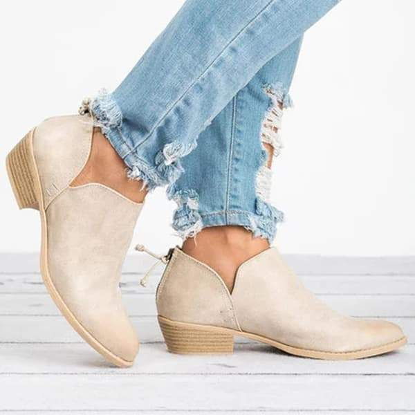 Faddishshoes Ankle Chunky Boots