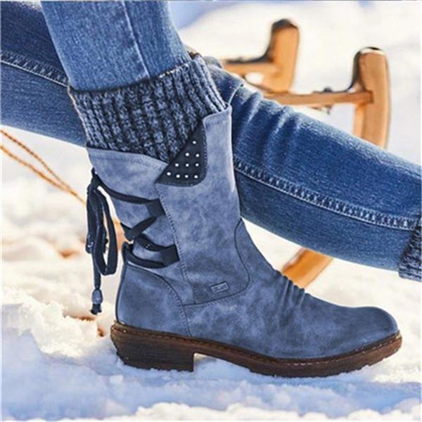 Women Winter Warm Back Lace Up Boots