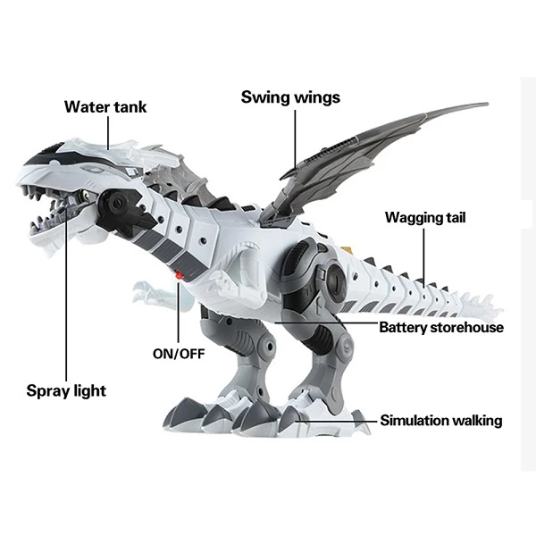 Christmas Promotion 60%Off - Walking Spray Dinosaur Robot
