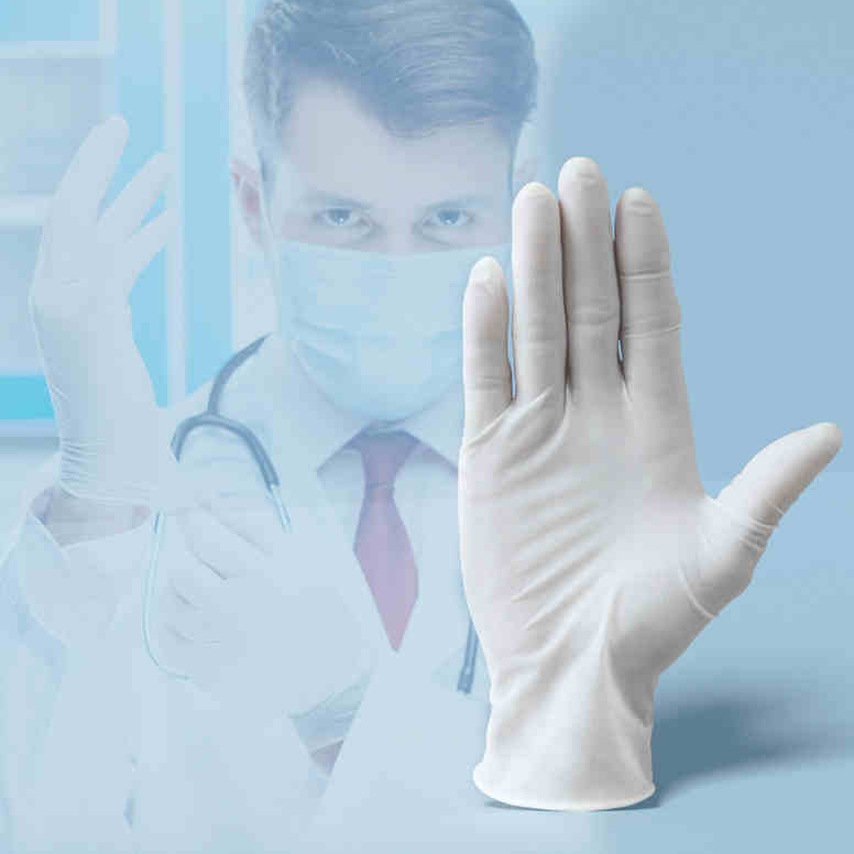 100 PCS Disposable Medical Grade Rubber Inspection Gloves