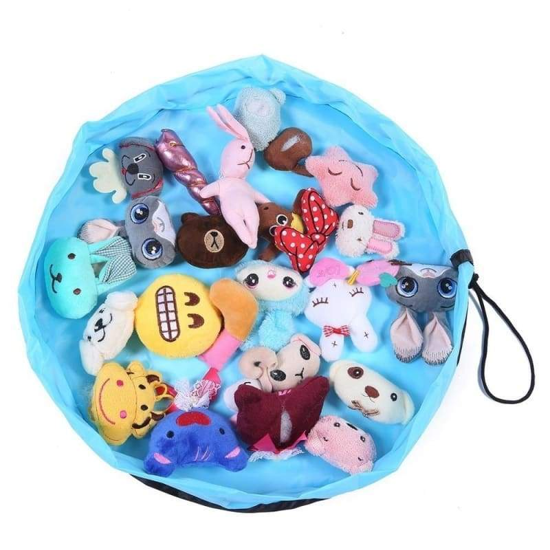 New Portable Kids Toy Storage Bag and Play Doormat  Toys Organizer Drawstring Bag Fashion Practical Bags container