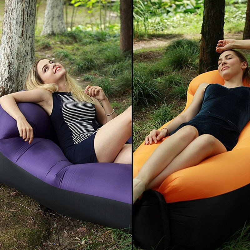 Funplusgogo/ Inflatable Lounger Air Chair Sofa Bed Sleeping Bag Couch for Beach Camping Lake Garden