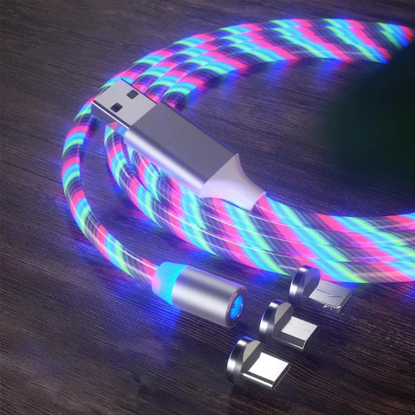 Limited Sale 50%OFF - 3 in 1 Glowing LED Magnetic USB Charging Cable
