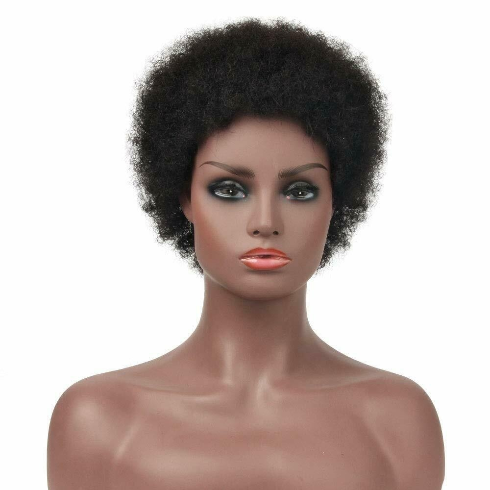 Short Brazilian Remy Hair Short Pixie Cut Afro No Lace Human Hair Kinky Curly Wig Black Wigs For Women Fashion Wigixie Cut Afro Kinky Curly Wig Synthetic Hair Black Wigs For Women Fashion Wig