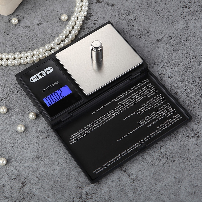 Electronic Digital Pocket Scale 0.1/0.01g Precision Mini Jewelry Weighing Scale Backlight Scales for Kitchen (50/100/200/500g)