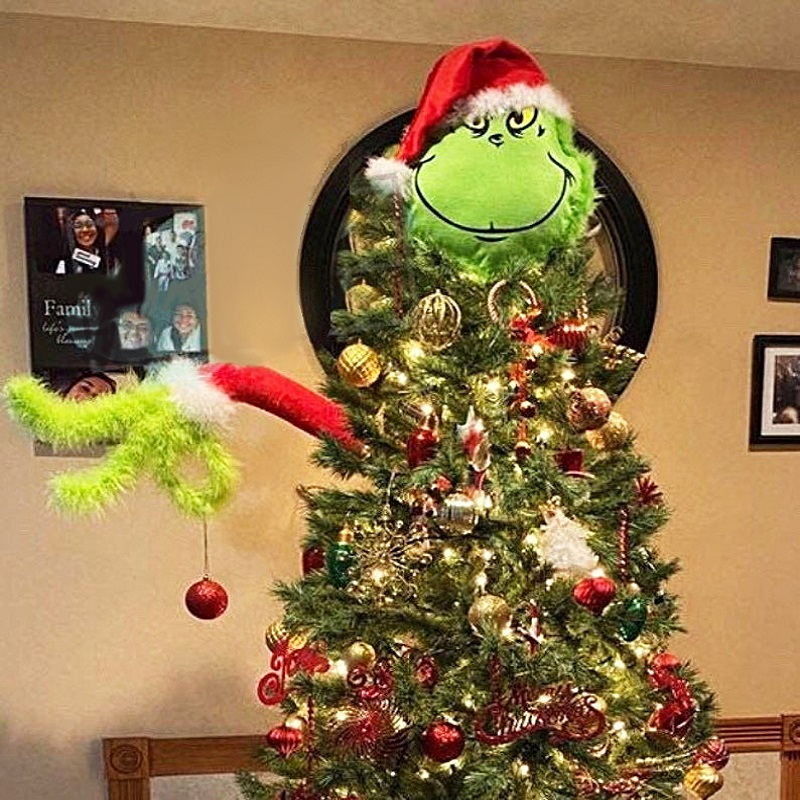 Furry Green Grinch Arm Ornament Holder For The Christmas Tree🎄-Completely Handmade