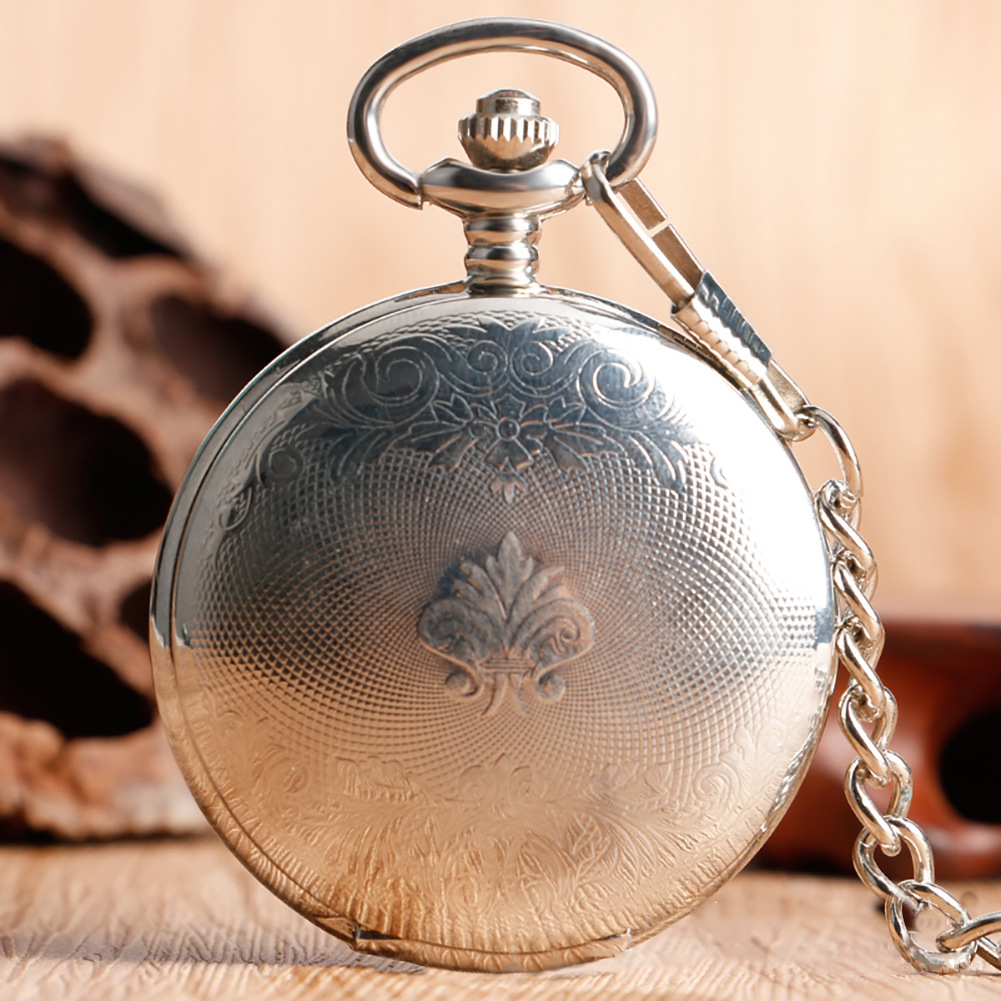 Father's Day Hot Sale- Roman Vintage Double-sided Hand Driven Pocket Watch