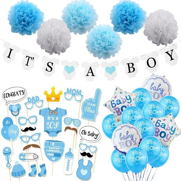 Baby Shower Oh Baby Balloons Banner Its A Boy/Girl Confetti Balloon Baby Gender Reveal Birthday Party Decorations