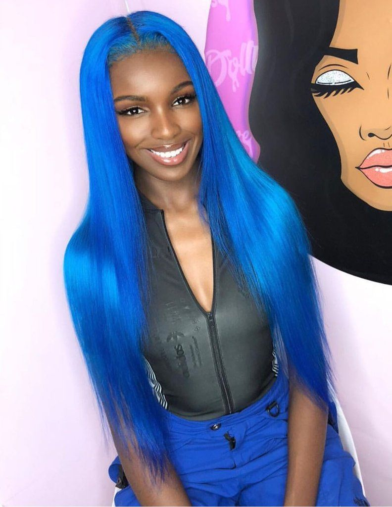 Blue Wigs Lace Frontal Wigs Cheap Human Wigs Royal Blue Costume Jewelry Midnight Blue Hair Color Blue Hair Treatment