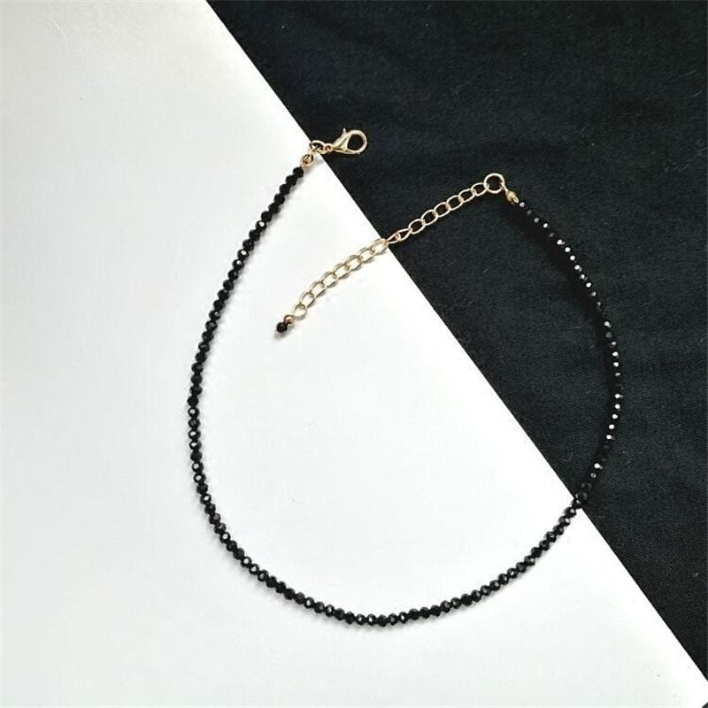 2019 Trendy Black Crystal Beads Short Necklaces For Women Sexy Clavicle Chain Female Bride Wedding Choker Necklace Jewelry