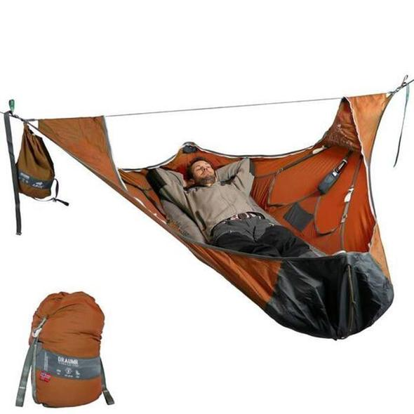🔥HOT SALE--Flat Sleep Hammock Tent With Bug Net Kit--Worldwide free shipping