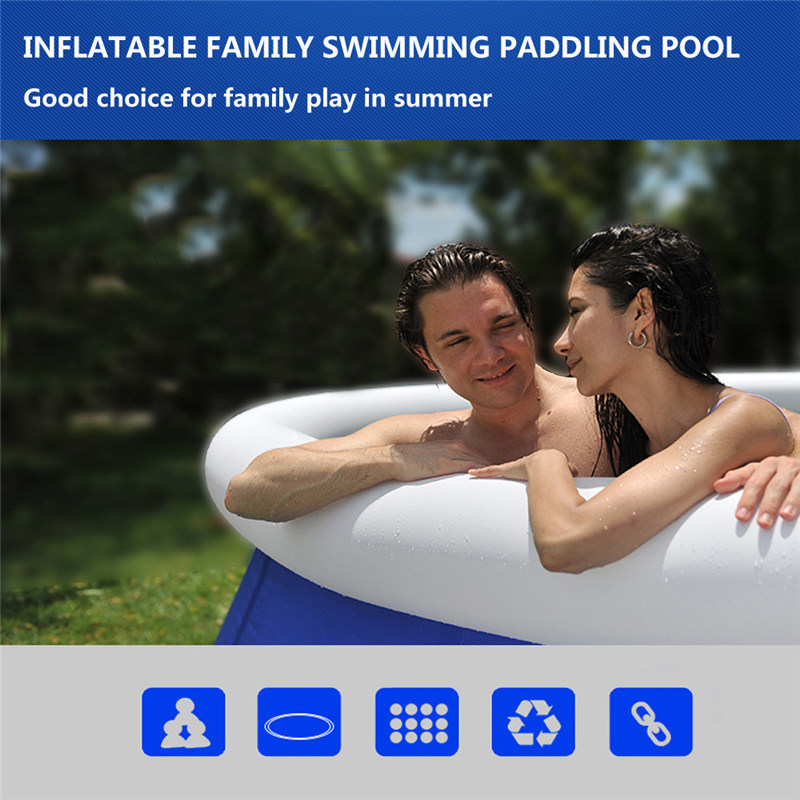 Inflatable Family Swimming Pool With Air Pump Above Ground Swimming Pool Large Size Easy Set Pool🌊(ON SALE)