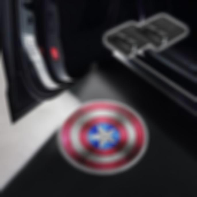 CarFitg Wireless Led Car Door Projector Puddle Logo Light - Captain America