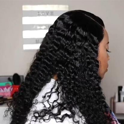 2019 New Natural Curly Lace Front Basic Cap Wig