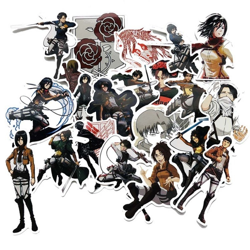 100/70/60/50/21 Pcs Anime  My Hero Academia/ Naruto/Attack On Titan/Dragon Ball/One Piece/Tokyo Ghoul Stickers For Car Laptop Backpack Home Decal Pad Bicycle Waterproof