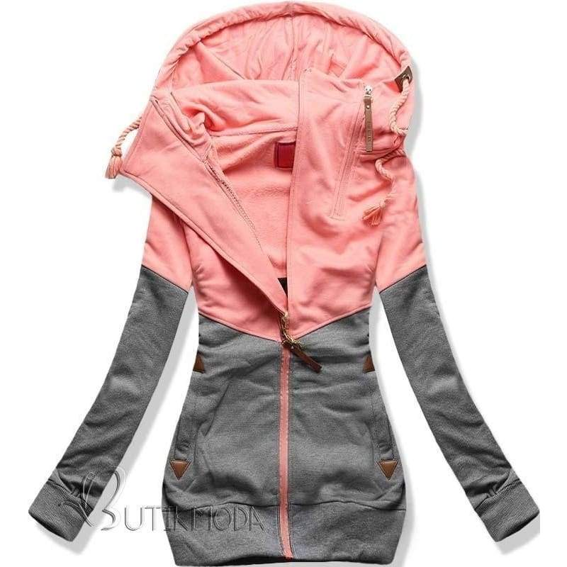 The New Women's Personality Color Double Zipper Hooded Long Sleeved Cashmere Sweater with Women