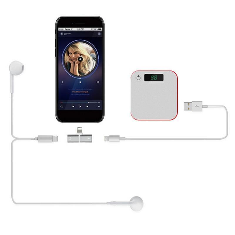 SKRTEN 2 in 1 Dual Potrs Audio Headphone Splitter Cable for iPhone 7/7Plus/8/X