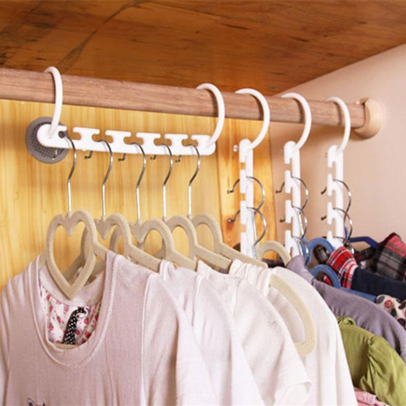 White Magic Closet Space Saving Hanger with Hooks As Seen On TV