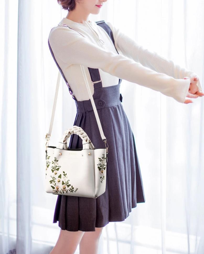 Embroidery Vintage Ladies Shoulder Bags For Women