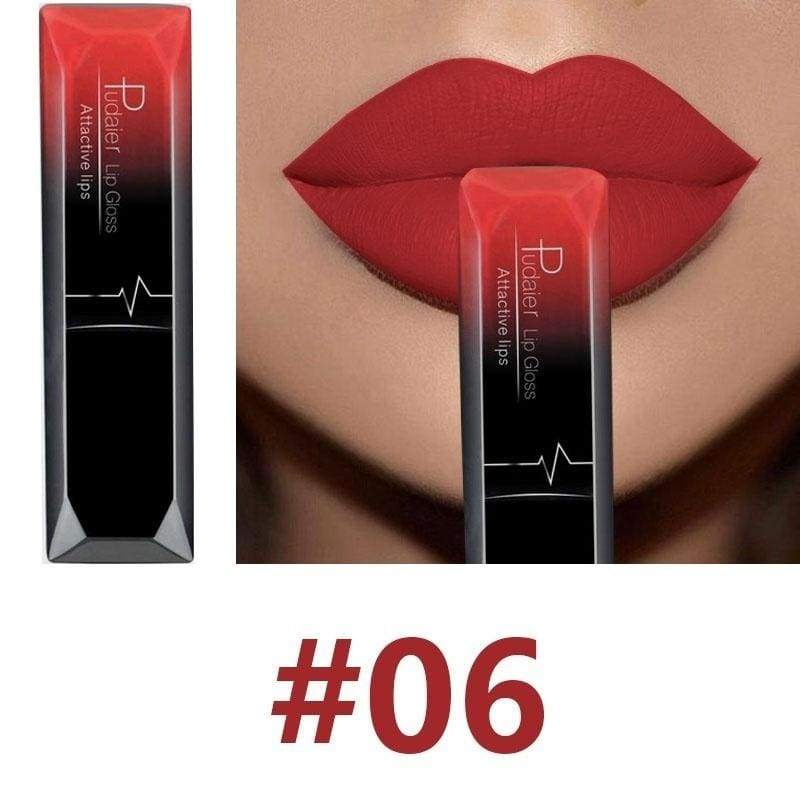 Super Lady Makeup 17 Liquid Lipstick Red Long-lasting Velvet Matte Waterproof Lipgloss Lip Plumpers