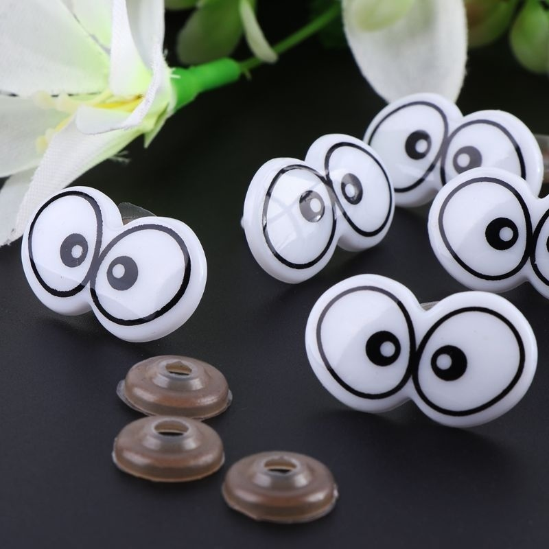10pcs Plastic Cartoon Safety Eyes For Toy Bear Doll Puppet Stuffed Animal Crafts Children DIY With Washers FUL